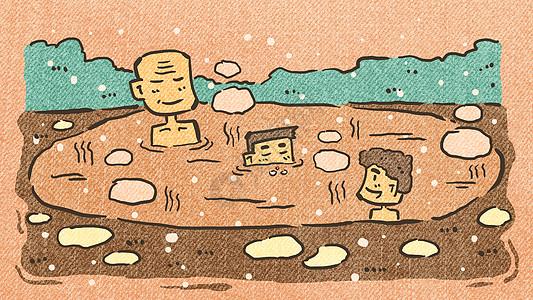 冬日温泉图片