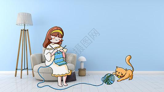 居家生活创意摄影插画图片