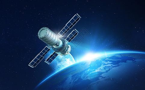 运行的太空站图片