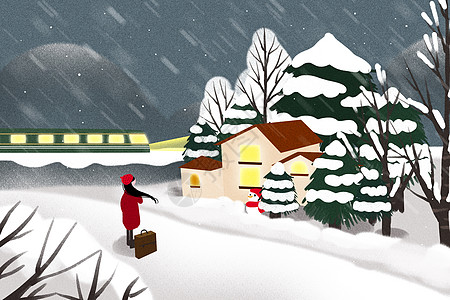 冬季归途图片