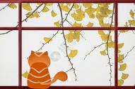 窗外秋景图片