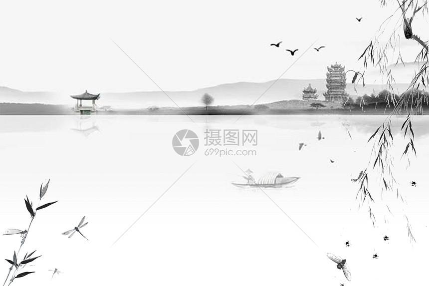 中国风水墨背景图片