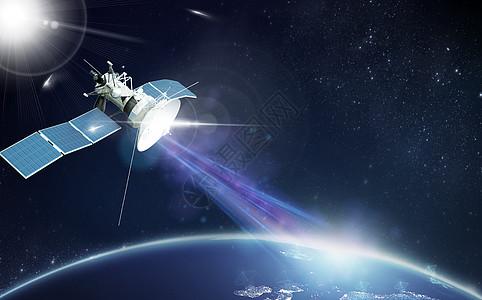 人造卫星太空站图片