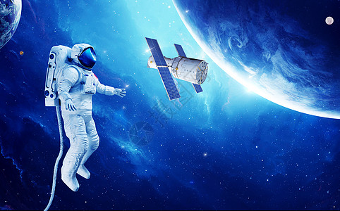 宇宙空间太空站图片