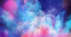 色彩液体喷溅背景图片