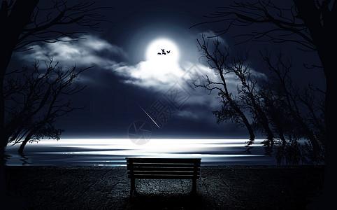湖边奇幻梦境图片