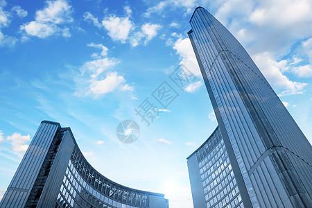 仰角建筑场景图片