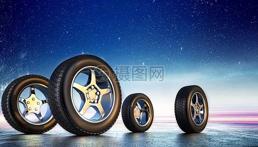 轮胎背景图片