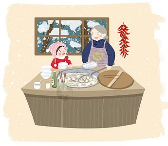 立冬冬至吃饺子图片