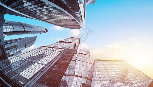 仰视建筑场景图片