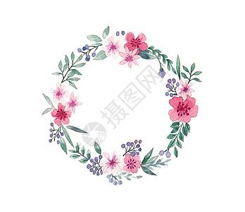 小清新花卉边框透明底素材图片