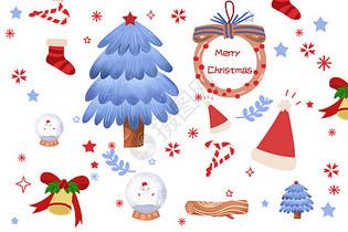 圣诞节小清新背景图片