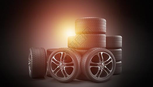 创意轮胎图片