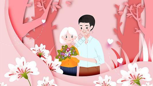 感恩节关爱母亲图片