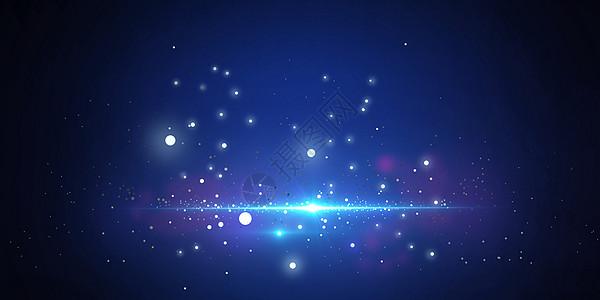 炫光粒子背景图片