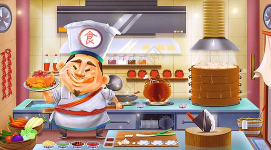 美食佳肴厨师图片