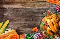 感恩节餐桌背景图片
