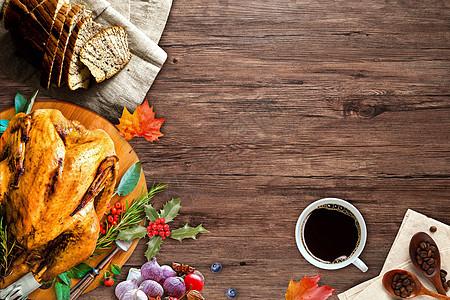 感恩节餐桌图片