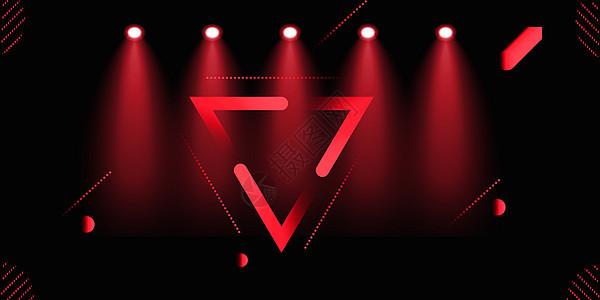 双11红黑撞色背景图片