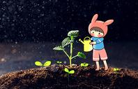 种花绿化卡通配图图片