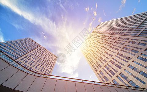 仰拍大厦图片