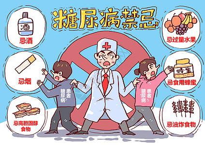 糖尿病禁忌漫画图片