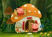 小猪过新年图片