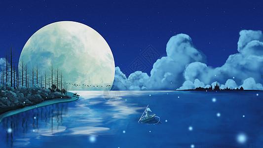 海上月明夜图片