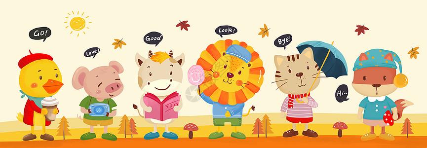 欧式卡通动物图片