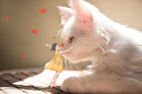 猫咪女孩图片