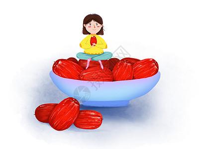 红枣插画图片