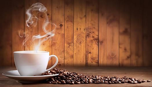 创意咖啡豆背景图片