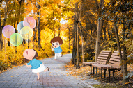 秋天里的美好爱情图片