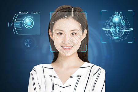 VR人脸识别技术图片