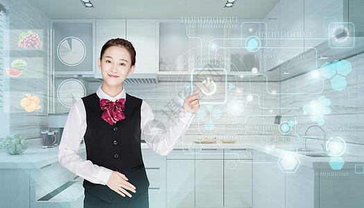 智能管家科技厨房图片