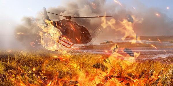 战火场景图片
