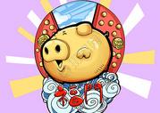 金猪拱福门图片