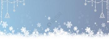 唯美雪花冬季背景图片