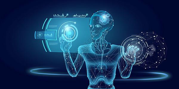 人工智能触屏科技场景图片