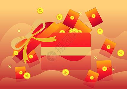 扁平风格购物节红包图片