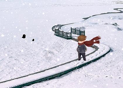 狂风暴雪的冬季图片