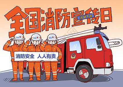 全国消防安全宣传日漫画图片