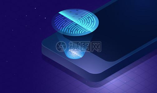 科技手机指纹图片