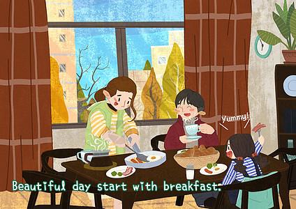 家庭早餐图片
