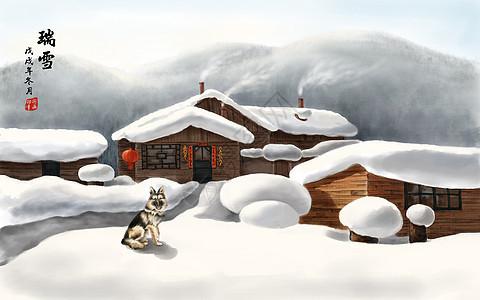 北极村雪景图片