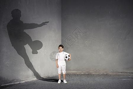 男孩的足球梦图片