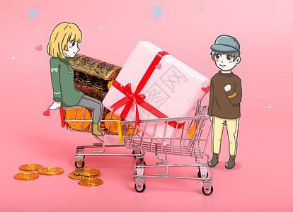双十一购物图片