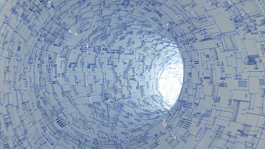 科技科幻抽象隧道图片