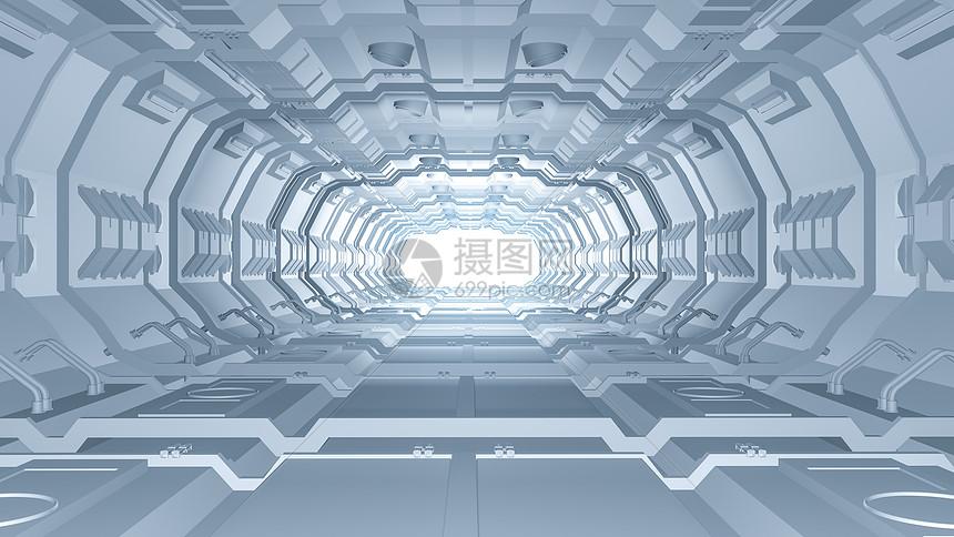 科幻隧道空间图片