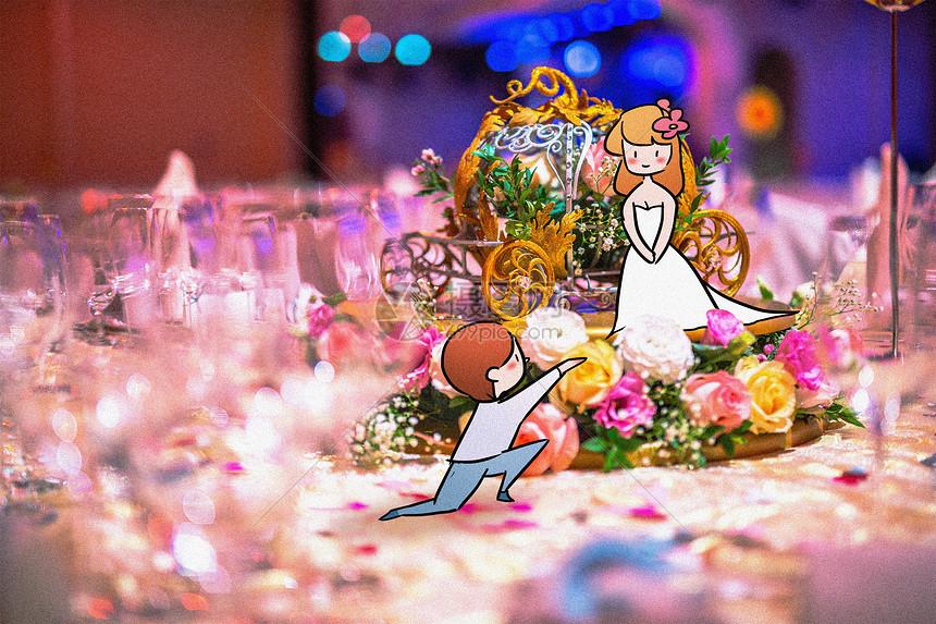 婚礼小情侣图片
